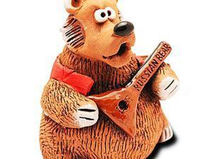 Лепим русского мишку с балалайкой. Ярмарка Мастеров - ручная работа, handmade.
