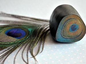 """Видео мастер-класс: кейн """"Перо павлина"""" из полимерной глины. Ярмарка Мастеров - ручная работа, handmade."""