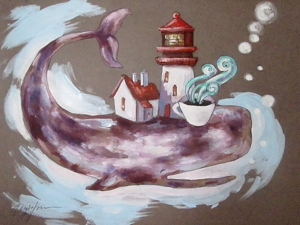 Sea cup, формат А4. Ярмарка Мастеров - ручная работа, handmade.