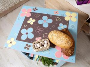 Декор столика из ИКЕА в технике трафаретной росписи. Ярмарка Мастеров - ручная работа, handmade.