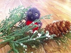 Снегирь - игрушка на елку. Ярмарка Мастеров - ручная работа, handmade.