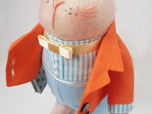 Подробный мастер-класс по созданию котика-тильды. Часть 2: одежда. Ярмарка Мастеров - ручная работа, handmade.