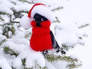 Валяем забавного снегиря. Ярмарка Мастеров - ручная работа, handmade.