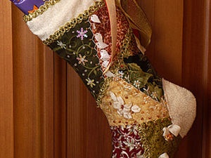 Шьем рождественский крейзи-носочек. Ярмарка Мастеров - ручная работа, handmade.
