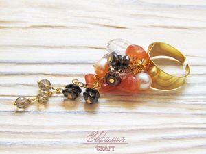 Как сделать простое и эффектное кольцо-гроздь. Ярмарка Мастеров - ручная работа, handmade.