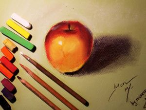 Video Tutorial: Drawing Apples with Pastels. Livemaster - hecho a mano - handmade.