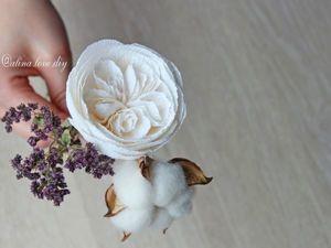 Видеоурок: английская роза или роза Дэвида Остина из гофрированной бумаги. Ярмарка Мастеров - ручная работа, handmade.