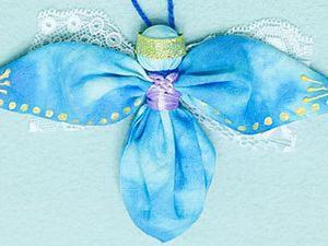 Мастер-класс по изготовлению новогоднего ангелочка из ткани. Ярмарка Мастеров - ручная работа, handmade.