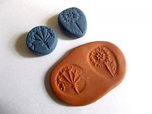 Лепим штампики для работы с полимерной глиной и применяем их на практике. Ярмарка Мастеров - ручная работа, handmade.