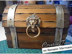 Создание пиратского сундука сокровищ. Ярмарка Мастеров - ручная работа, handmade.