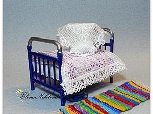 """Мастер-класс """"Кровать"""". Кукольная миниатюра.. Ярмарка Мастеров - ручная работа, handmade."""