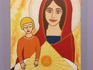 Комментарий к картине  «Мама, почитай мне книжку». Ярмарка Мастеров - ручная работа, handmade.