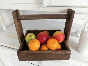 Видеоурок: мастерим ящик-переноску на кухню. Ярмарка Мастеров - ручная работа, handmade.