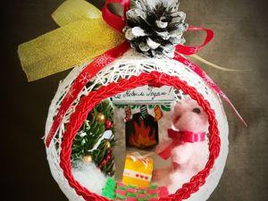 Создаем елочный шар из ниток «Новогоднее чудо». Ярмарка Мастеров - ручная работа, handmade.