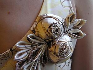 Как сделать розу из ткани. Ярмарка Мастеров - ручная работа, handmade.