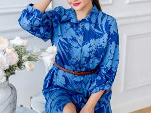 Новое платье из вискозы. Ярмарка Мастеров - ручная работа, handmade.