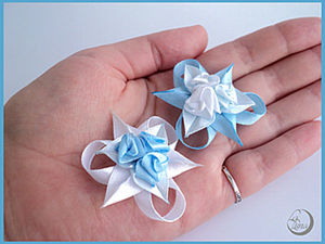 Tiny Roses of Satin Ribbons. Livemaster - handmade
