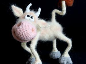 Мастер-класс:  «Весёлая коровка» своими руками. Ярмарка Мастеров - ручная работа, handmade.