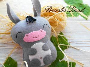 Шьем детскую игрушку — озорного Ослика из фетра. Ярмарка Мастеров - ручная работа, handmade.