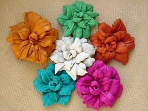 Создаем кожаный цветок. Ярмарка Мастеров - ручная работа, handmade.