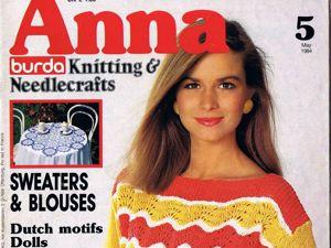 Журнал Anna № 5/1984. Фото работ. Ярмарка Мастеров - ручная работа, handmade.