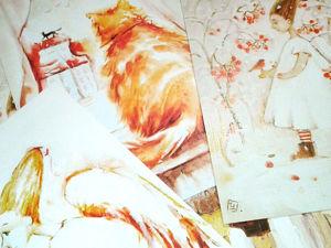 В магазине новые принты! Ангелы,коты и зонты). Ярмарка Мастеров - ручная работа, handmade.