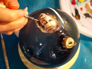Расписываем елочный шар: портрет Энакина Скайуокера. Ярмарка Мастеров - ручная работа, handmade.