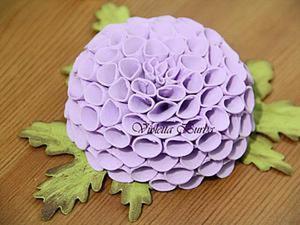 Создаем помпонный георгин из фоамирана. Ярмарка Мастеров - ручная работа, handmade.