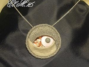 Мастер-класс: лепим кулон «Каменный глаз». Ярмарка Мастеров - ручная работа, handmade.