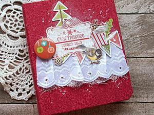 Создаем декабрьский дневничок на кольцах. Ярмарка Мастеров - ручная работа, handmade.