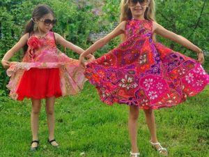 Шьем эффектное пляжное платье для девочки. Ярмарка Мастеров - ручная работа, handmade.