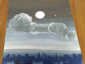"""Урок  """"Рисуем ночное небо"""". Ярмарка Мастеров - ручная работа, handmade."""