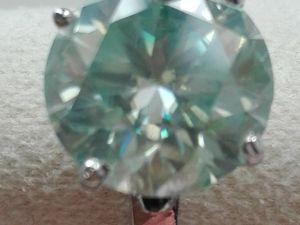 Видео Кольцо муассанит 5 карат серебро. Ярмарка Мастеров - ручная работа, handmade.
