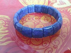 Видео браслет из Лазурита. Ярмарка Мастеров - ручная работа, handmade.