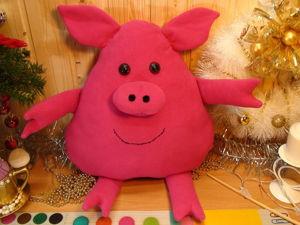 Шьем подушку-игрушку поросенка для детей. Ярмарка Мастеров - ручная работа, handmade.