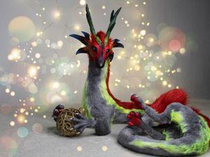 Делаем игрушку в смешанной технике: Дракон нового года. Ярмарка Мастеров - ручная работа, handmade.