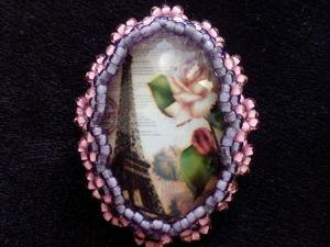 Вышиваем бисером брошь «Парижская роза». Ярмарка Мастеров - ручная работа, handmade.
