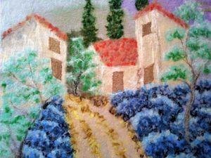 Creating Felt Scarf with Landscape. Livemaster - handmade