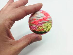 Видео-обзоры на броши с пейзажами. Ярмарка Мастеров - ручная работа, handmade.