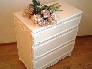 Обновление старого комода — меловая краска, лепнина, молды. Ярмарка Мастеров - ручная работа, handmade.