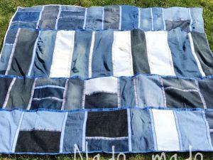 Шьем лоскутное покрывало из старых джинсов. Ярмарка Мастеров - ручная работа, handmade.