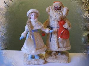 Снегурочка под ёлку: как сделать классическую ватную игрушку на каркасе. Ярмарка Мастеров - ручная работа, handmade.