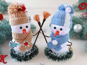 Видео мастер-класс: делаем интерьерного снеговичка. Ярмарка Мастеров - ручная работа, handmade.