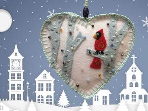 Новогодние игрушки из фетра своими руками. Ярмарка Мастеров - ручная работа, handmade.