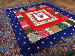 Новинка! Коврик  «Новогодний гном»  с вышивкой. Ярмарка Мастеров - ручная работа, handmade.