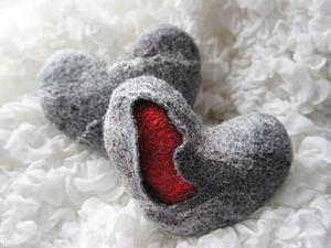 """Валяем """"Каменное сердце""""!. Ярмарка Мастеров - ручная работа, handmade."""
