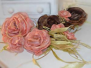 """Цветы. Розы из шелковых и растительных волокон. Шелковый  """"пирог"""". Ярмарка Мастеров - ручная работа, handmade."""