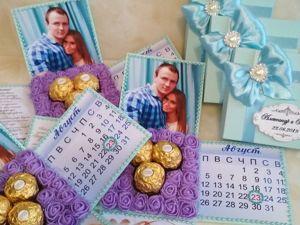 Приглашение на свадьбу с конфетами. Ярмарка Мастеров - ручная работа, handmade.