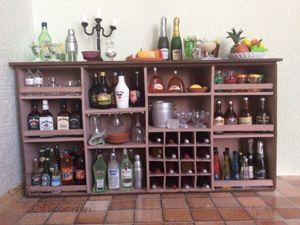 Делаем барный шкаф для кукольной миниатюры. Ярмарка Мастеров - ручная работа, handmade.
