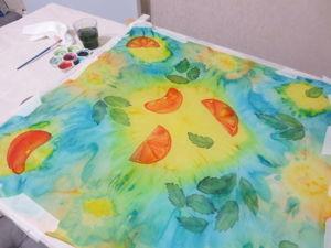 Роспись шелкового платка в технике холодный батик. Видео мастер-класс по японскому узелковому батику. Ярмарка Мастеров - ручная работа, handmade.